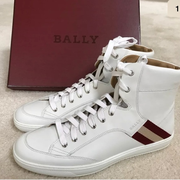 High Size Top 11 Sneaker Bally Leather Nwt Men's White BCoWxrde